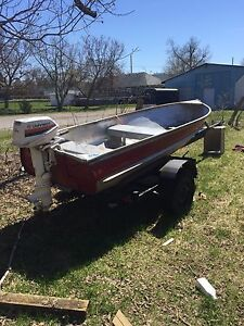 Trade for riding mower 6hp boat motor trailer