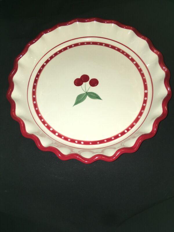 Crate & Barrel CHERRY PIE Ceramic Dish - EUC