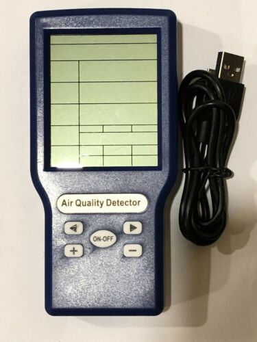 Air Quality Detector for CO2, TVOC, HCHO ppm Tester/Analyzer - Open Box