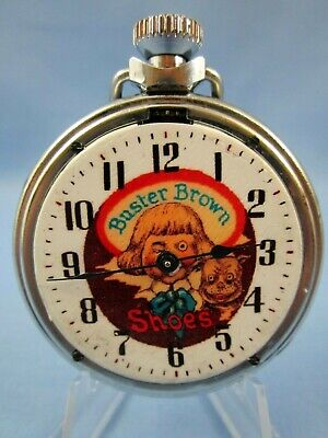 VINTAGE 1960's ** BUSTER BROWN SHOES ** ADVERTISING POCKET WATCH ~ VERY RARE~