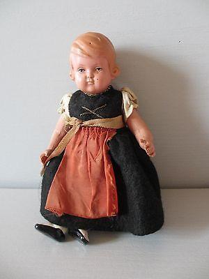 Alte kleine Schildkröt Puppe Celluloid Schildkrötpuppe 13 1/2