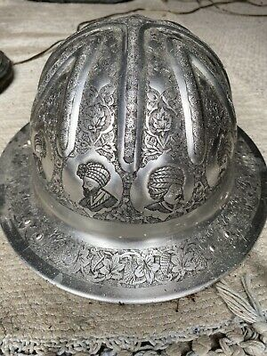 Vintage Aluminum Hard Hat Panorama Made In England