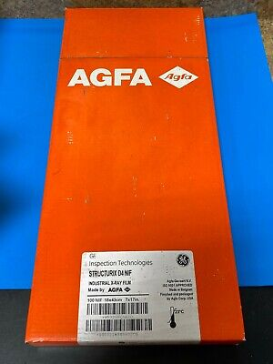 Ge Structurix D4 Agfa 100 Nif Industrial X-ray Film 18x43cm 7x17in Exp 72021 D2