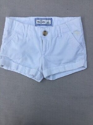 ABERCROMBIE KIDS Girls Shorts Size 8 White