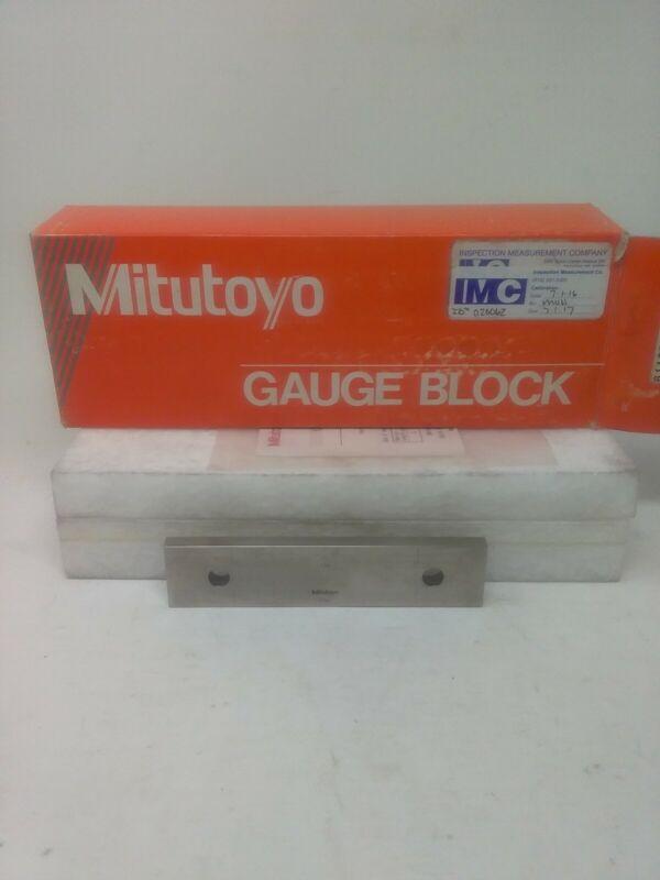 """Mitutoyo Gauge Block 6"""" # 611206-541 Grade AS-1"""