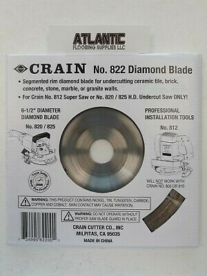 Crain 822 6-12-inch Diamond Jamb Saw Blade For820825 Saw And 812 Super Saw