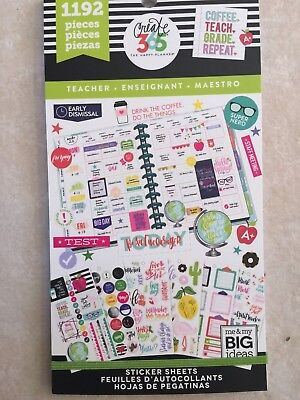 Create 365  The Happy Planner  Teacher Edition Sticker Sheets  Sweet 1192 New