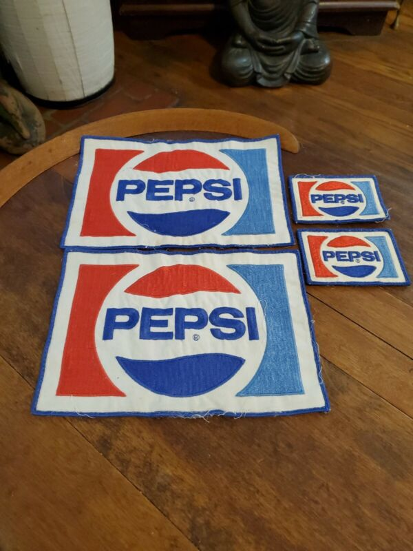 Vintage Pepsi Patches Lot of 4 Total PEPSI PATCHES
