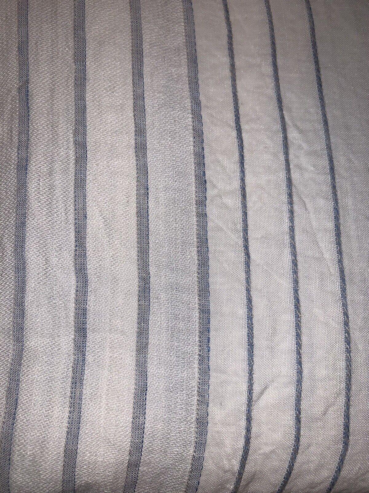 Restoration Hardware Italian Jacquard PACIFIC Stripe Linen Shower Curtain  - $69.00