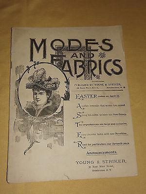 VINTAGE OLD 1893 MODES and FABRICS AMSTERDAM NY WOMENS FASHION MAGAZINE