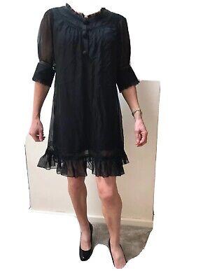 Jovonna Black 100% Silk Lined Dress