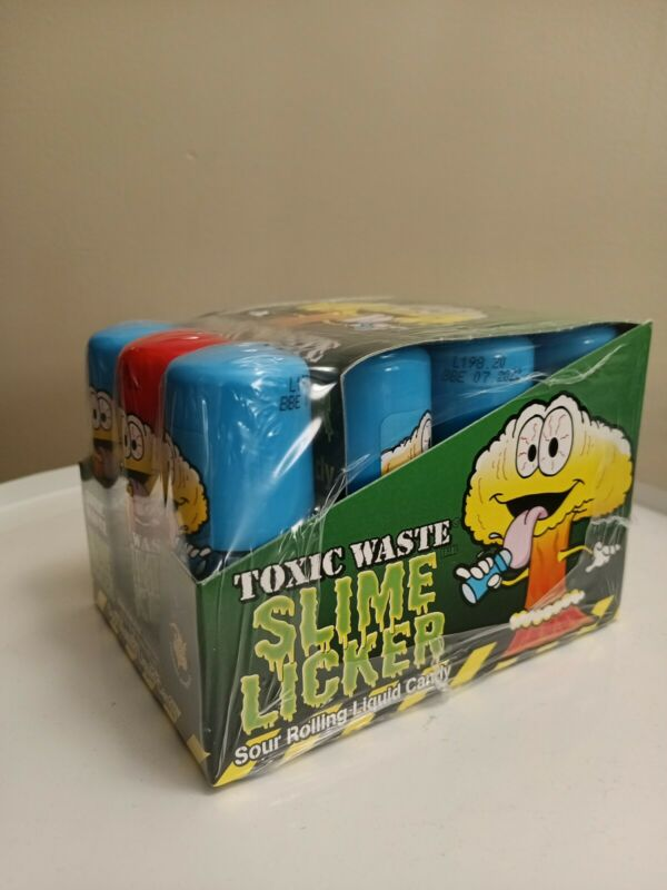 Toxic Waste Slime Lickers - 1 Blue Rasp_Sour Rolling Liquid Candy Licker TikTok