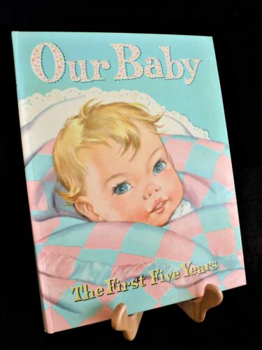 "Vintage BABY BOOK Unused 1946 ""Babyhood"" First Five Years Boy or Girl EXC COND"
