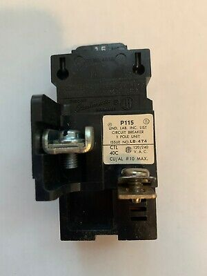 New Pushmatic Bulldog P115 15amp Single Pole 1p Breaker