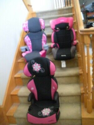 Car Seats (2X) EvenFlo + (1X)Harmony LOCAL Pre-owned Safety Booster Ages 4-10