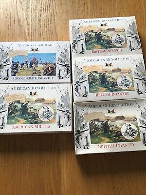 ACCURATE FIGURES LTD 1/32 American Revolution Civil War 6 sets 20 pieces