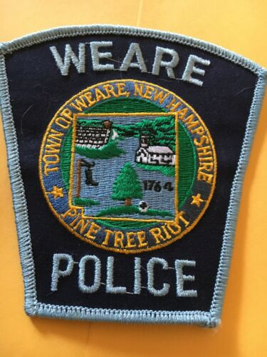 Weare New Hampshire Vintage Police Patch version 2