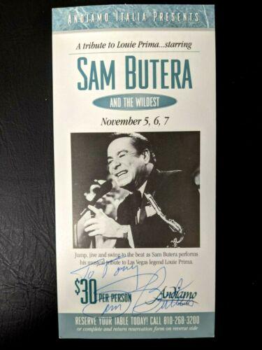 Sam Butera Autograph 1998 Handbill Order Form Advertising Andiamo Italia Fusco45