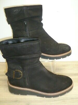 Next Black Suede Ankle boots with ankle zips uk size 6 EU 39