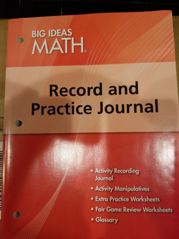 Big Ideas Math Record and Practice Journal Holt Mcdougal Red Student Book New