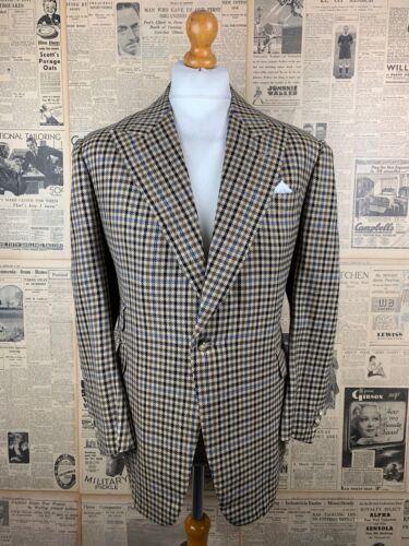 Vintage Nortons Savile Row peak lapel bespoke tweed jacket size 44