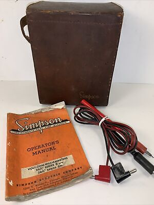 Simpson 260 Series 5 Vom Clean Working With Probes Manual Leather Carry Case