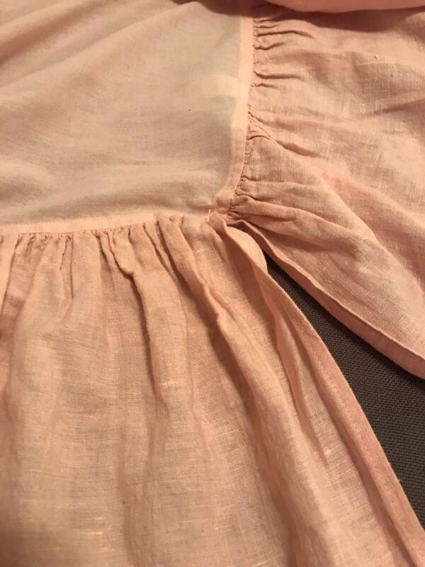 """Bella Notte Petal Pink Linen Crib Skirt 17"""" Drop"""