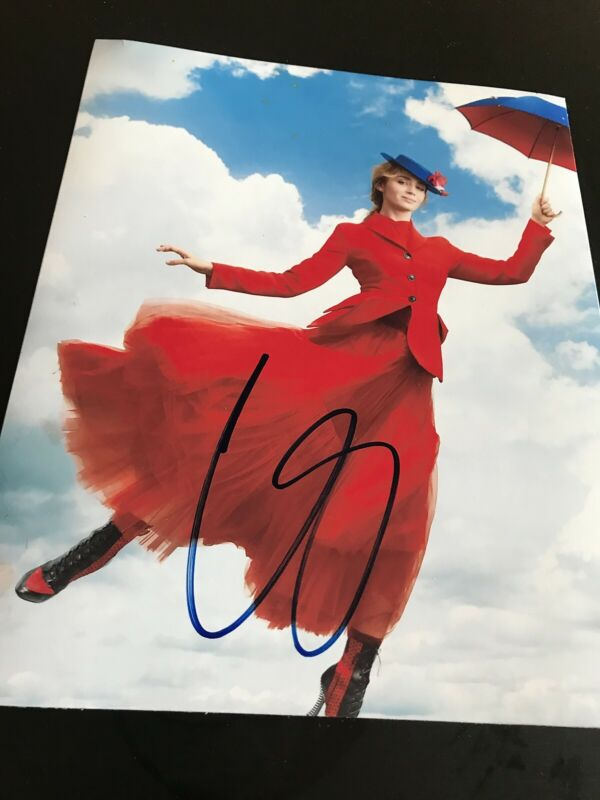 EMILY BLUNT SIGNED AUTOGRAPH 8x10 PHOTO MARY POPPINS VOGUE IN PERSON COA AUTO D