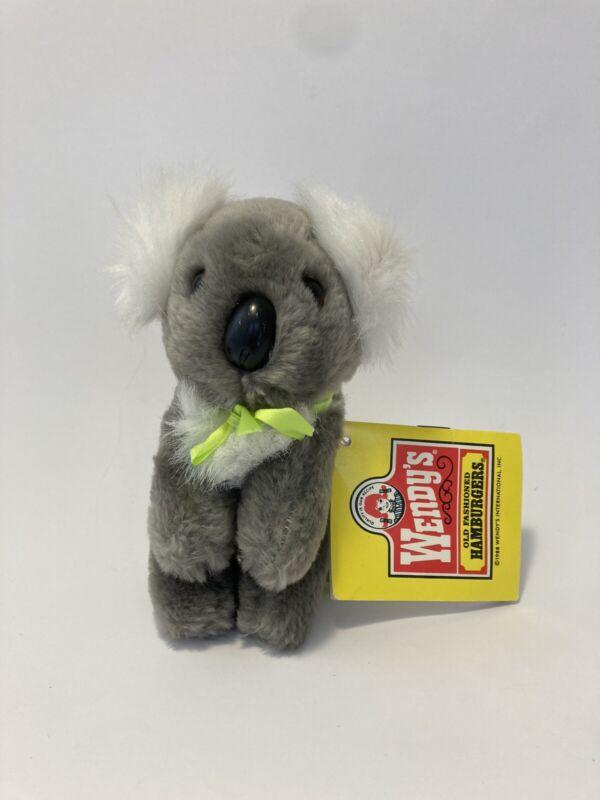 "VINTAGE 1988 WWF KOALA BEAR 5"" Plush STUFFED ANIMAL Toy W/ TAG Wendy"