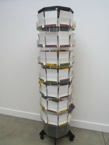 Commercial Spinning Floor Greeting Card Rack Display 6 Foot Tall 72* Pockets