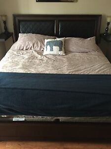 King Size Bed Frame and Night Stand only $600