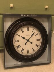 Westclox Brown Wall Clock, New, 20 inches