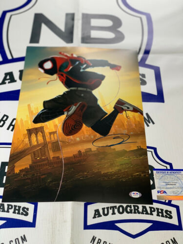 Shameik Moore Spider Verse Spider-man 12x18 Signed Photo PSA COA