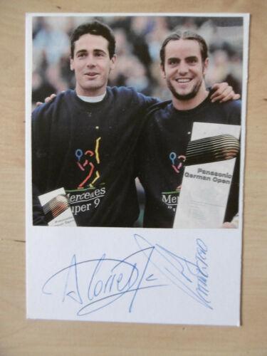 Alex Corretja & Roberto Carretero Autogramme signed 10x15 cm Karteikarte mit Mag