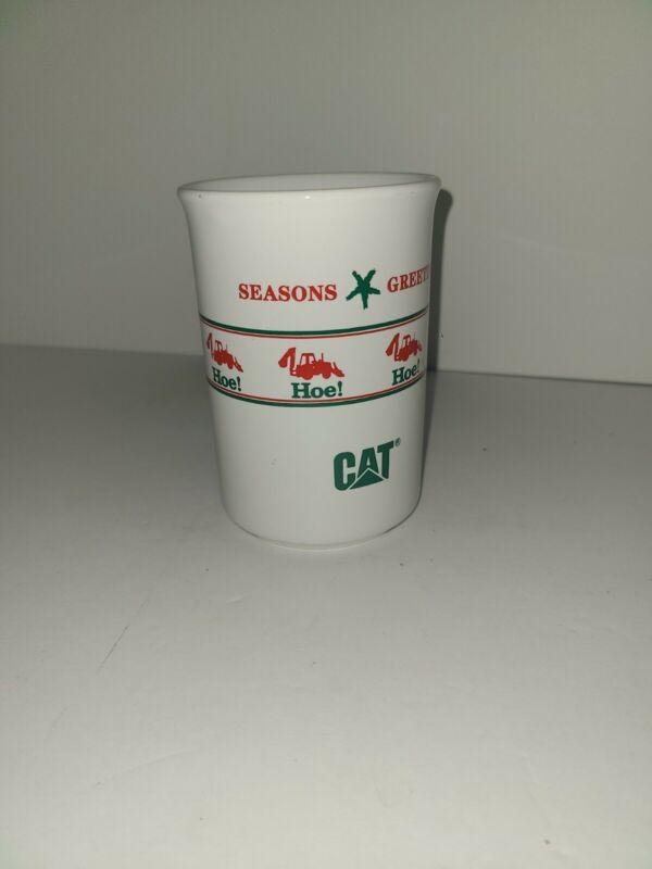 Vintage CAT Caterpillar Coffee Mug Santa Xmas RARE USA Made