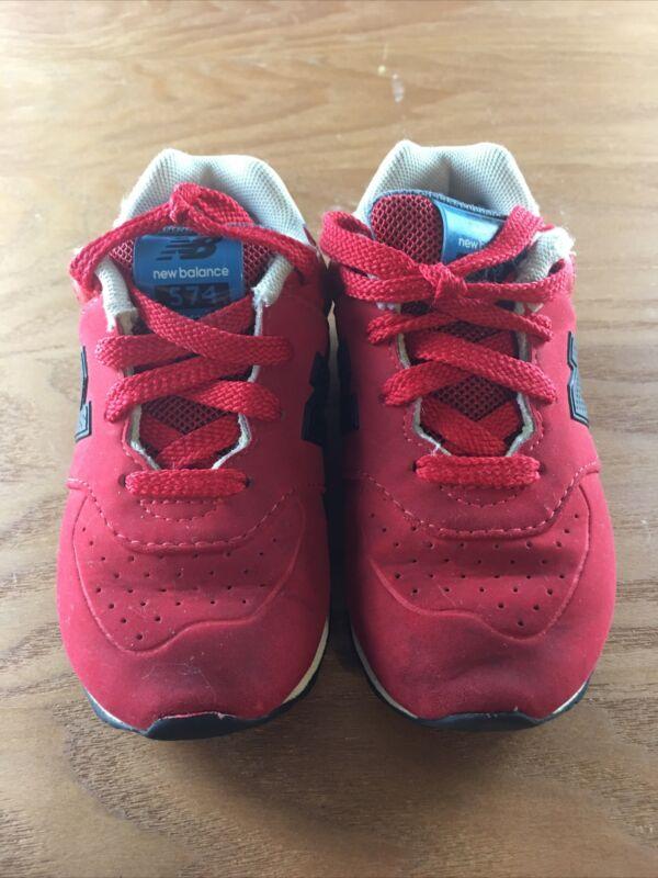 New Balance 574 Toddler Red/Black Sneaker Toddler 8