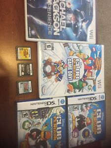Various Wii and DS games