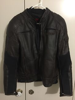 Dainese R-Twin Pelle Brown Motorcycle Jacket Sz50 - Great comdition