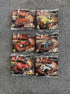 LEGO Shell V-Power Ferrari Rare unopened all 6 Cars