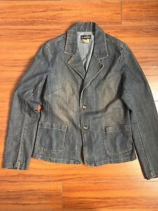 Ladies jean jacket size large