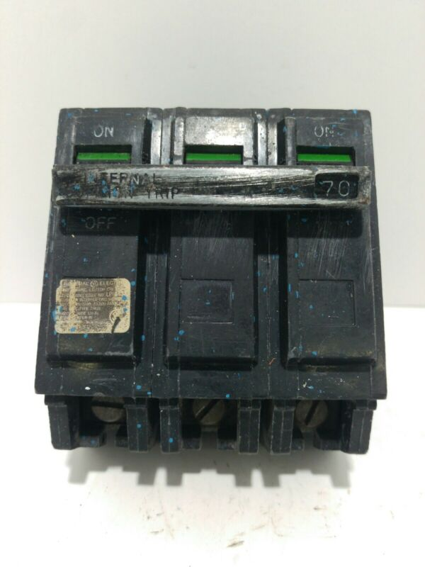 GENERAL ELECTRIC GE THQB32070 3 POLE 70 AMP 240 V CIRCUIT BREAKER