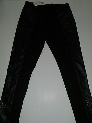 BNWT Genuine Desigual Embossed Black faux leather Trousers Size XL