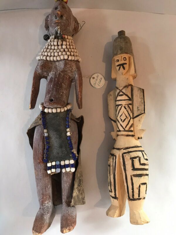 2 Antique Turkana African Dolls