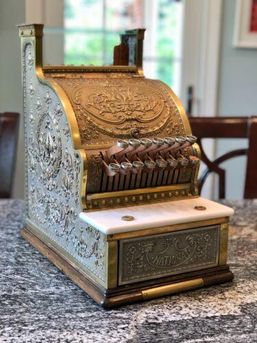 """NCR """"National Cash Register"""" Model #313 Brass Candy Store Cash Register"""