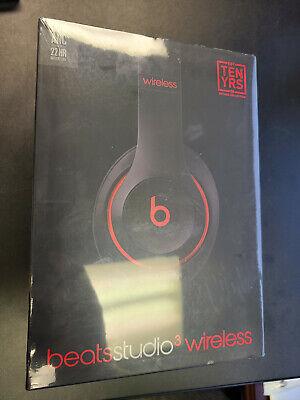 New Sealed Beats Studio3 Wireless Noise Cancelling Headphones Black Red MX422LL