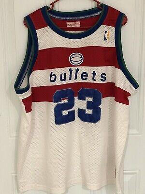 Mitchell & Ness Washington Bullets Michael Jordan 23 Throwback Jersey Men 54 (Michael Jordan Washington Bullets Jersey 23 Throwback)