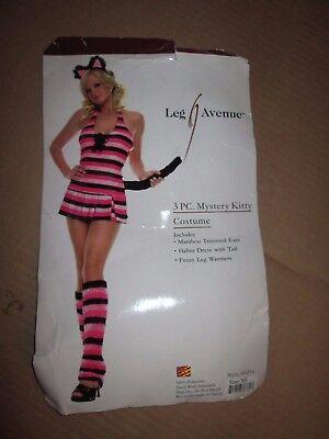 Womens NAUGHTY MYSTERY KITTY Halloween Costume XS Leg Avenue - Naughty Kitty Costume