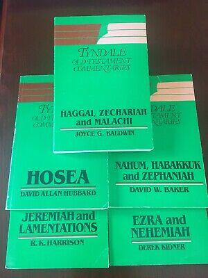5 Tyndale OT Commentaries inc Hosea, Jeremiah, Nahum, Ezra, Nehemiah, Haggai