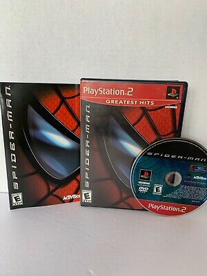 Spider-man for PS2 PlayStation 2 Greatest Hits Complete & Tested Spiderman Game