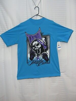ff9d6cdae565 UFC Official TAPOUT T-Shirt Blue w/ SKULL Intense & Driven Mens' X-LARGE